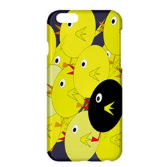 Yellow Flock Apple Iphone 6 Plus/6s Plus Hardshell Case by Valentinaart
