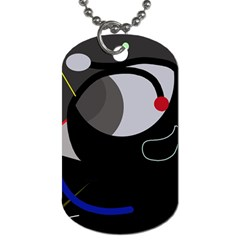 Gray Bird Dog Tag (one Side) by Valentinaart