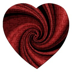 Elegant Red Twist Jigsaw Puzzle (heart) by Valentinaart