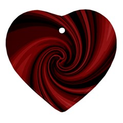 Elegant Red Twist Heart Ornament (2 Sides) by Valentinaart