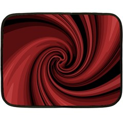Elegant Red Twist Fleece Blanket (mini) by Valentinaart