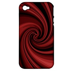 Elegant Red Twist Apple Iphone 4/4s Hardshell Case (pc+silicone) by Valentinaart