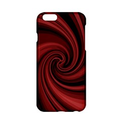 Elegant Red Twist Apple Iphone 6/6s Hardshell Case by Valentinaart