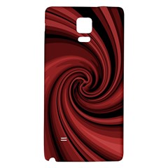 Elegant Red Twist Galaxy Note 4 Back Case by Valentinaart