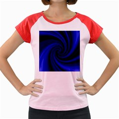 Blue Decorative Twist Women s Cap Sleeve T Shirt by Valentinaart