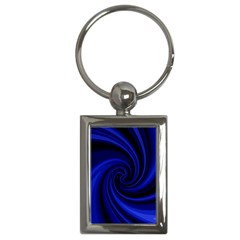 Blue Decorative Twist Key Chains (rectangle)  by Valentinaart