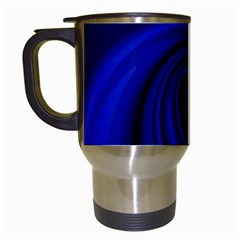 Blue Decorative Twist Travel Mugs (white) by Valentinaart