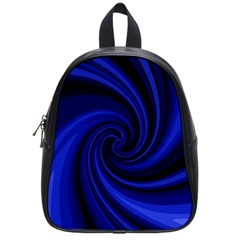 Blue Decorative Twist School Bags (small)  by Valentinaart