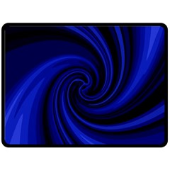 Blue Decorative Twist Fleece Blanket (large)  by Valentinaart
