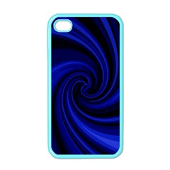 Blue Decorative Twist Apple Iphone 4 Case (color) by Valentinaart