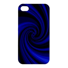 Blue Decorative Twist Apple Iphone 4/4s Premium Hardshell Case