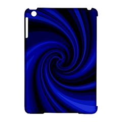 Blue Decorative Twist Apple Ipad Mini Hardshell Case (compatible With Smart Cover) by Valentinaart