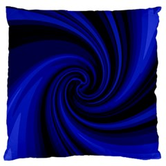 Blue Decorative Twist Standard Flano Cushion Case (two Sides) by Valentinaart