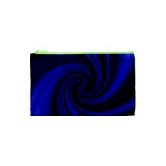 Blue Decorative Twist Cosmetic Bag (xs) by Valentinaart
