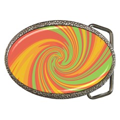 Green And Orange Twist Belt Buckles by Valentinaart
