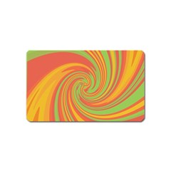 Green And Orange Twist Magnet (name Card) by Valentinaart