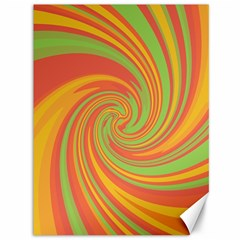 Green And Orange Twist Canvas 36  X 48   by Valentinaart