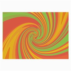 Green And Orange Twist Large Glasses Cloth (2 Side) by Valentinaart