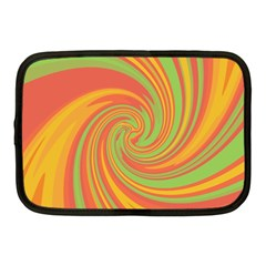 Green And Orange Twist Netbook Case (medium)  by Valentinaart