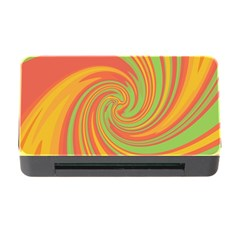Green And Orange Twist Memory Card Reader With Cf by Valentinaart