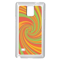 Green And Orange Twist Samsung Galaxy Note 4 Case (white) by Valentinaart