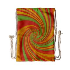 Green And Orange Twist Drawstring Bag (small) by Valentinaart