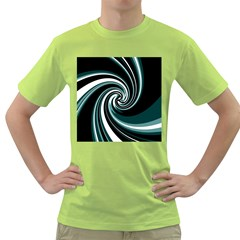 Elegant Twist Green T Shirt