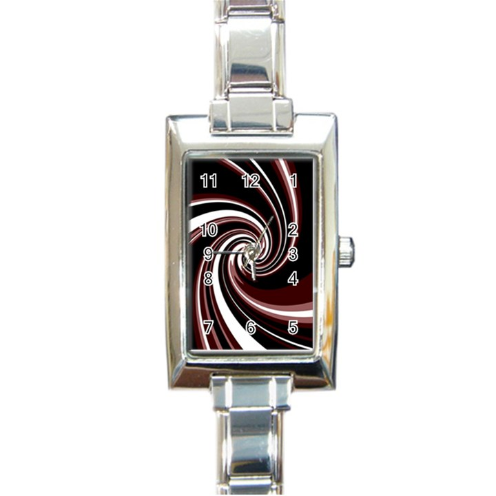 Decorative twist Rectangle Italian Charm Watch