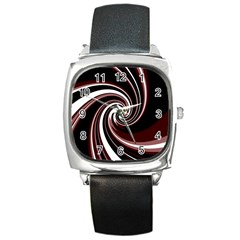 Decorative Twist Square Metal Watch by Valentinaart