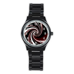 Decorative Twist Stainless Steel Round Watch by Valentinaart
