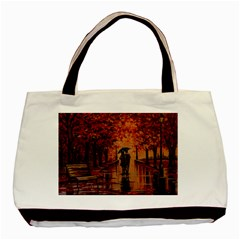 Unspoken Love  Basic Tote Bag (two Sides) by ArtByThree