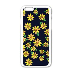 Daisy Flower Pattern For Summer Apple Iphone 6/6s White Enamel Case