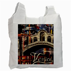 Venice Rialto Bridge Recycle Bag (one Side) by ArtByThree