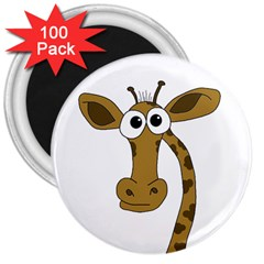 Giraffe  3  Magnets (100 Pack) by Valentinaart