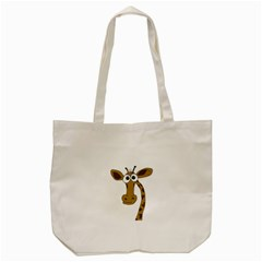 Giraffe  Tote Bag (cream) by Valentinaart
