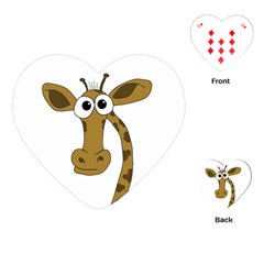 Giraffe  Playing Cards (heart)  by Valentinaart