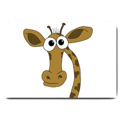 Giraffe  Large Doormat  by Valentinaart