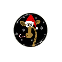 Christmas Giraffe Hat Clip Ball Marker (4 Pack) by Valentinaart