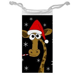 Christmas Giraffe Jewelry Bags by Valentinaart