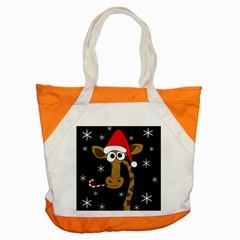 Christmas Giraffe Accent Tote Bag by Valentinaart