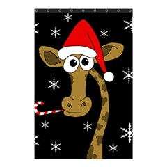 Christmas Giraffe Shower Curtain 48  X 72  (small)  by Valentinaart