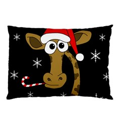 Christmas Giraffe Pillow Case (two Sides)