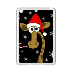 Christmas Giraffe Ipad Mini 2 Enamel Coated Cases by Valentinaart