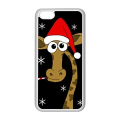 Christmas Giraffe Apple Iphone 5c Seamless Case (white) by Valentinaart