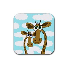 Just The Two Of Us Rubber Square Coaster (4 Pack)  by Valentinaart
