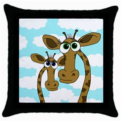 Just The Two Of Us Throw Pillow Case (black) by Valentinaart
