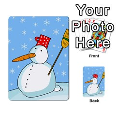 Snowman Multi Purpose Cards (rectangle)  by Valentinaart