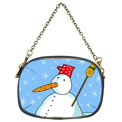 Snowman Chain Purses (one Side)  by Valentinaart