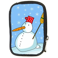 Snowman Compact Camera Cases by Valentinaart