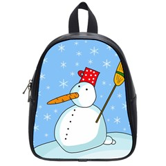 Snowman School Bags (small)  by Valentinaart